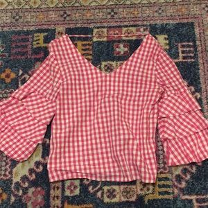 Pink gingham top - FREE W ANY PURCHASE